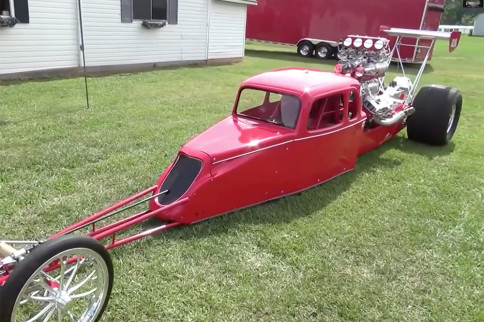 Blown Mafia: A 1934 Ford-Bodied...Rear Engine Dragster?