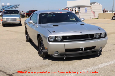 Video: LSX-Powered Dodge Challenger Goes 8s