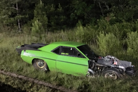 """""""The Lizzard"""" Crashes During Street Outlaws: New Orleans Taping"""