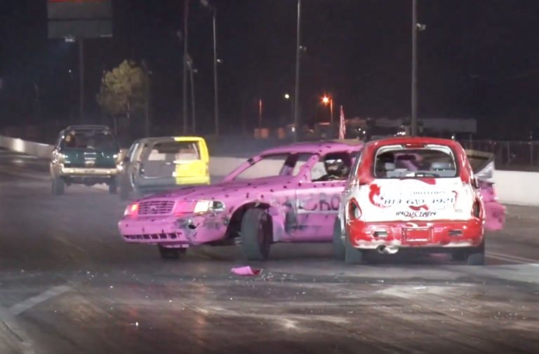 Video: Drag Racing Demolition Derbies Are A Real Thing