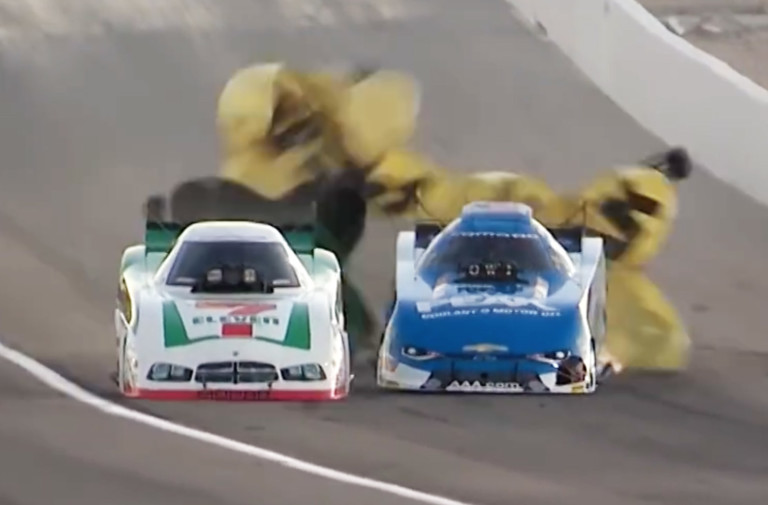 Video: John Force And Jim Campbell Get Intimate In Las Vegas