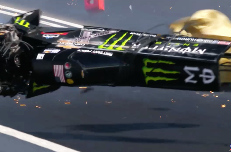 Top Fuel Champ Brittany Force Escapes Serious Injury In Pomona Crash