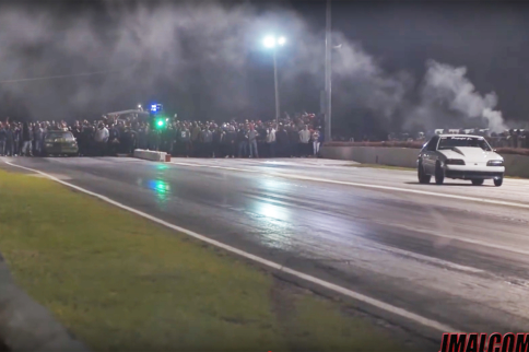 Video: Grudge Racer Gets 17-Car Headstart In An 1/8-Mile Race!