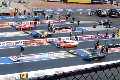 Video: First-Ever Four-Wide Grudge Racing In Las Vegas